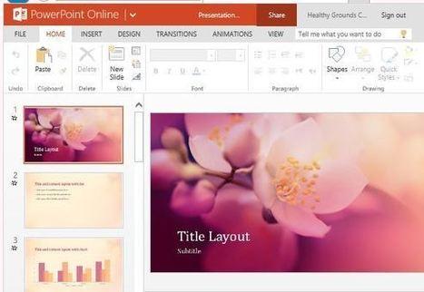 cherry blossom nature presentation template for, Presentation templates