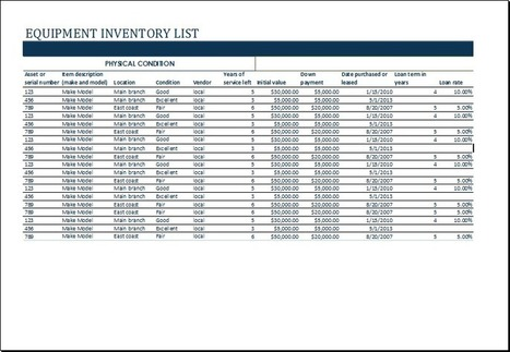 Inventory In Collection Of Microsoft Word  Excel Templates