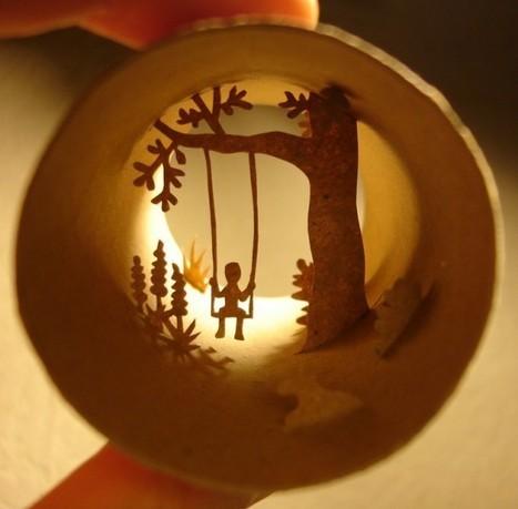 L'atelier du mercredi : avec des rouleaux de papier toilette   PLUMETIS Magazine   Reg'Art Metis   Scoop.it
