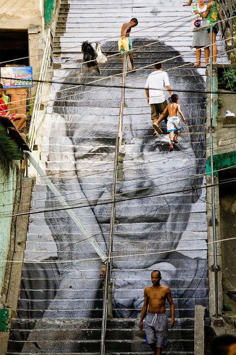 Le street-art s'invite sur les ESCALIERS du monde ! | Lumières de la Ville | Le BONHEUR comme indice d'épanouissement social et économique. | Scoop.it