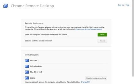 Chrome Remote Desktop, acceso remoto desde Chrome | Las TIC y la Educación | Scoop.it