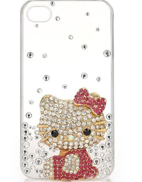 Hello Kitty diamond bling iPhone 4, 4S protective case   Apple iPhone and iPad news   Scoop.it