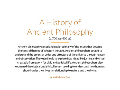 Graphic: A History Of Ancient Philosophy - | Philosophical wanderings | Scoop.it