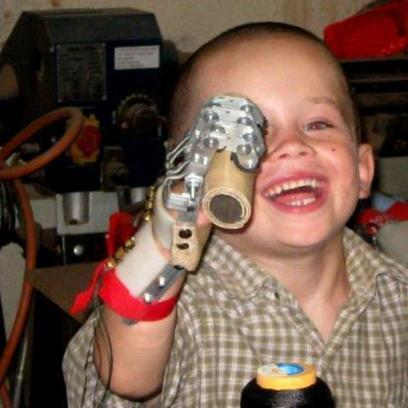 """3D Printers Help Build Robohand for 5-Year-Old 