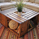 Coffee table made with recycled fruit boxes | DIY pallet furniture | pallets furniture | Scoop.it
