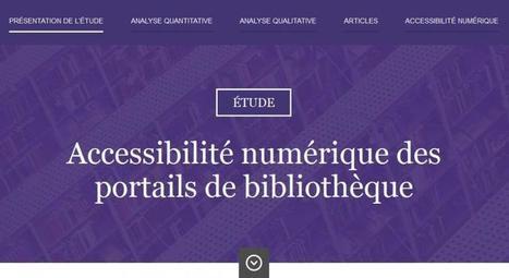 Accessibilité numérique des sites de bibliothèques : analyse qualitative | Enssib | Des livres, des bibliothèques, des librairies... | Scoop.it