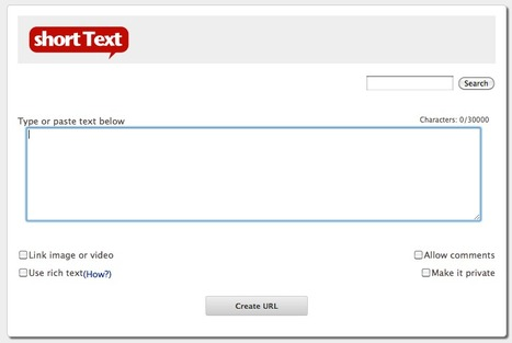 Publish Short Texts To The Web Instantly: shortText.com | Website to follow... | Scoop.it