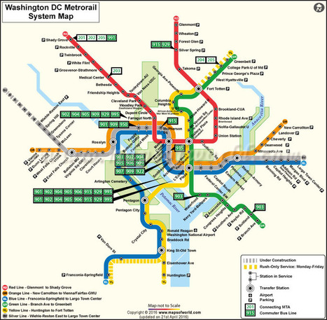 Washington Dc Metro Map Washington Dc Subway