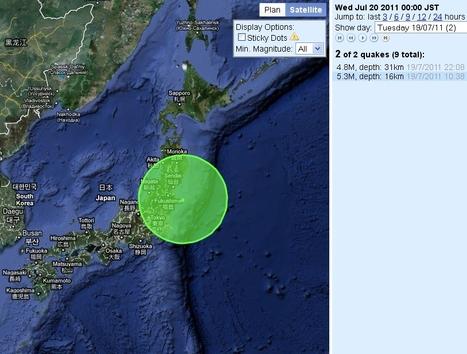 [séisme] Mardi 20 juillet, une forte secousse près des côtes Fukushima | Japan Quake Map | Japon : séisme, tsunami & conséquences | Scoop.it