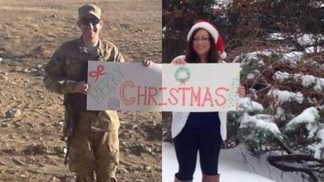Couple's Christmas Card While Thousands Of Miles Apart Goes Viral | Troy West's Radio Show Prep | Scoop.it