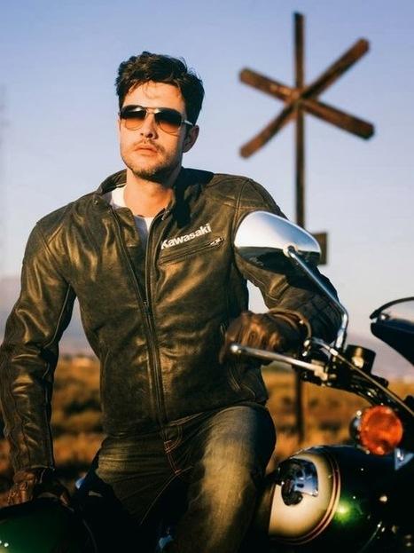 KAWASAKI ASPHALT S LEATHER JACKET | Vintage Motorbikes | Scoop.it