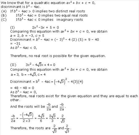 NCERT Solutions for Class 10 Maths Chapter 4 Qu