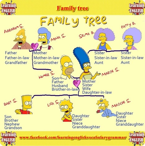 Family members vocabulary - family members in English | Learning Basic English, to Advanced Over 700 On-Line Lessons and Exercises Free | Scoop.it