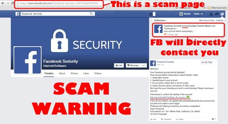 Be careful with this @Facebook Page Notification Scam  | Fashion Technology Designers & Startups | Scoop.it