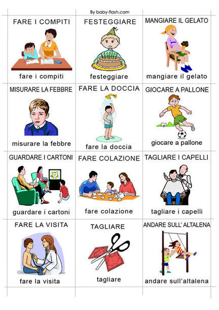 Verbi facebook italian word of the day s for Baby flash italiano doppie