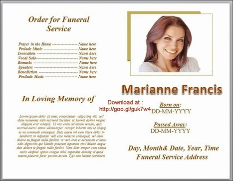 funeral in Funeral Program Templates – Funeral Program Templates Microsoft Word