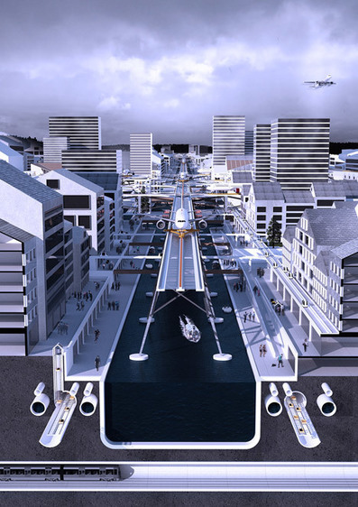A Proposal for an Elevated Stockholm Airport Locates Runways among City Rooftops | green streets | Scoop.it