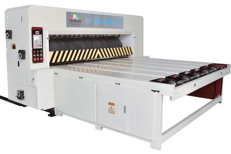 Automatic rotary die cutting machine for corrug