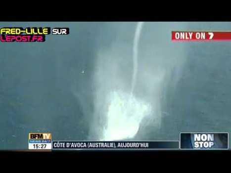 Quand une impressionnante colonne d'eau frôle les côtes australiennes - Le Post   Regarder le ciel   Scoop.it