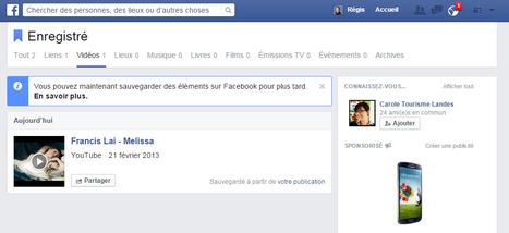 Enregistrez des photos, des vidéos, directement sur votre profil Facebook   toute l'info sur Facebook   Scoop.it