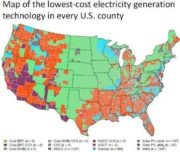 Natural gas and wind are the lowest-cost generation technologies for much of the U. S. | Texas Coast Real Estate | Scoop.it