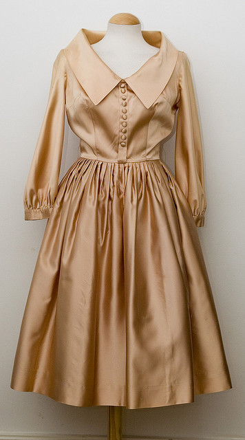 Vintage 50's Satin Peachy Dress | Flickr - Photo Sharing! | Vintage Whatever | Scoop.it