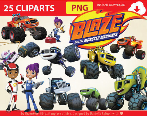 25 Blaze And The Monster Machines Clipart Pack