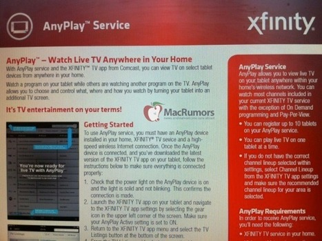 Comcast Working on iPad TV Streaming Service Called AnyPlay | TV Everywhere | Scoop.it