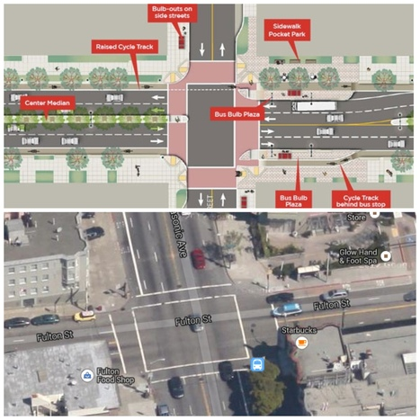Proposed street design to increase safety for pedestrians and bikers around USFCA | Bike Parking | Scoop.it