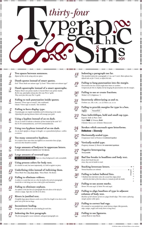 Sins Of Typography | Infographics for English class | Scoop.it