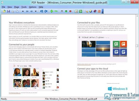 PDF Reader For Windows 8 : une alternative au lecteur de fichiers PDF intégré à Windows 8 | Time to Learn | Scoop.it