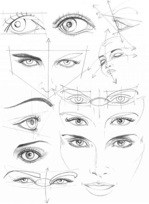 Human face drawing reference guide drawing re