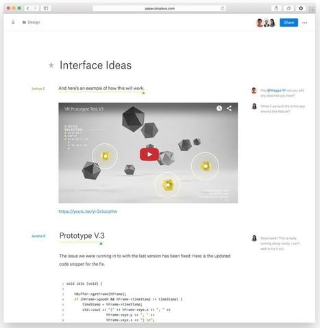 Dropbox Paper : le (petit) concurrent de Google Docs et Office Online - Frandroid | Autour du nuage, sauvegarde mais pas que | Scoop.it
