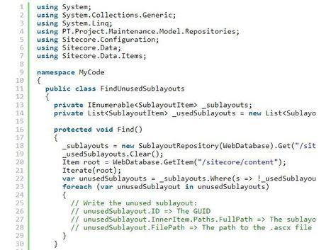 Sitecore find Unused Sublayouts | USA ONLINE PH