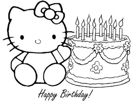 Hello Kitty - Free printable Coloring pages for kids | 358x467
