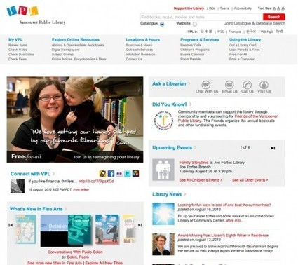 Digital Strategy for Libraries: The Library Website | An Intermittent ... | Libraries and literacy | Scoop.it