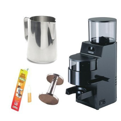 75f3c84fa3 Best reviews of Gaggia 8002 MDF Burr Grinder with Doser (Black) + Stainless  Steel 18 8 Gauge 20 oz. Frothing Pitcher + Accessory Kit