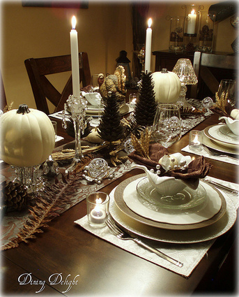 Dining Delight: White Pumpkins and Crystal for Thanksgiving | FallLove | Scoop.it