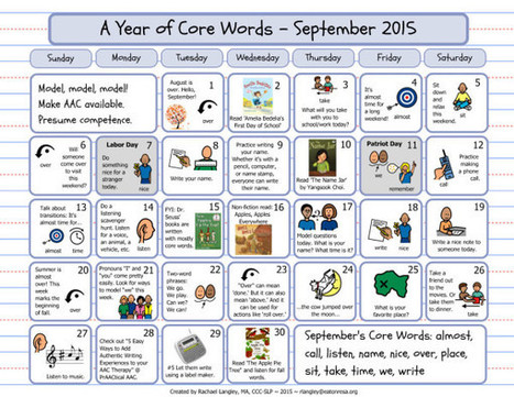 PrAACtically September: Core Vocabulary Resources | AAC: Augmentative and Alternative Communication | Scoop.it
