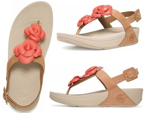 eb0be8885f7517 2015 Summer Flower Sandals Fitflop Floretta in Flame Tan