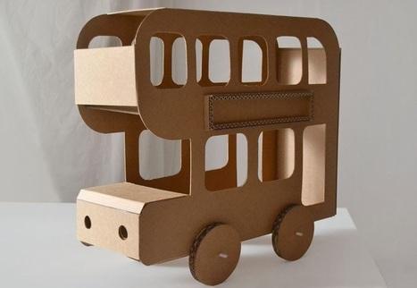 des jouets en carton rigolos pour des enfants créatifs !! | scoop.it