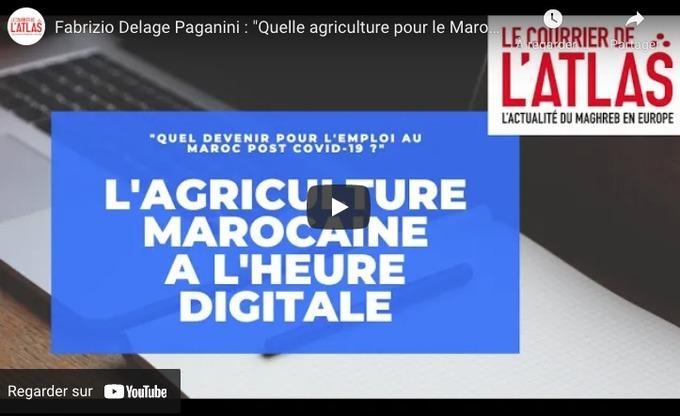 MAROC : Fabrizio Delage Paganini transforme en or les données agricoles