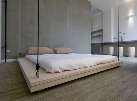 un lit au plafond par renato arrigo blog deco design - Lit Plafond