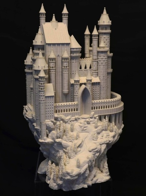 Bold Machines Designs and Releases an Amazing 3D Printed Castle Model | 3d printers and 3d scanners | Scoop.it