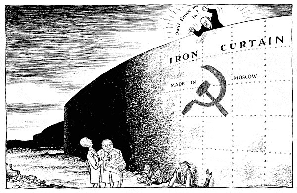 Political Cartoon ! | Iron Curtain | Scoop it