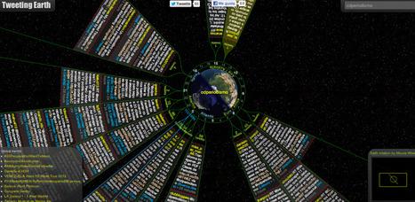 Descubre tuits desde diferentes zonas horarias con Tweeting Earth   Herramientas digitales   Scoop.it