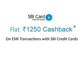 f2071c689 Snapdeal SBI EMI-Credit Card Offer (12-16 Sep 2015) - Rs.1250 Cashback -  Sitaphal