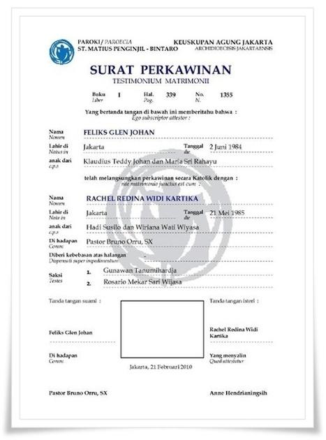 Sigithermawan Goblog Contoh Surat Nikah Sig