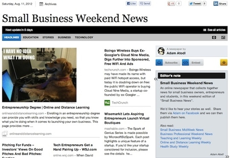 Aug 11 - Small Business Weekend News | Business Updates | Scoop.it