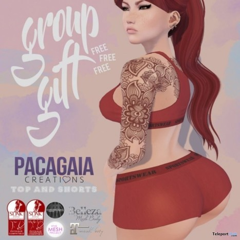 Top & Short Group Gift by Pacagaia Creations | Teleport Hub - Second Life Freebies | Second Life Freebies | Scoop.it